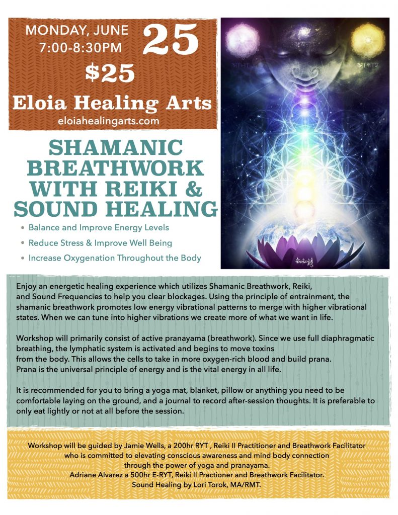Shamanic Breathwork Workshop @ Temecula Reiki Center