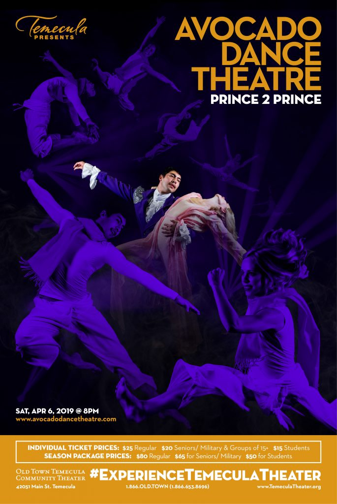 Avocado Dance Theatre presents PRINCE 2 PRINCE @ Old Town Temecula Community Theater